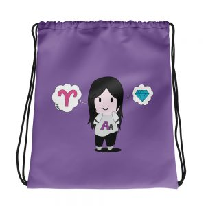 Autumn Asphodel Chibi Drawstring Bag