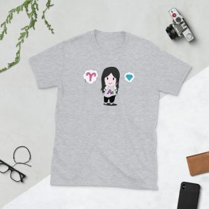 Autumn Asphodel Chibi Short-Sleeve Unisex T-Shirt (Sport Grey)