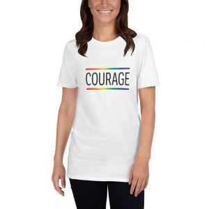 Courage - LGBT Short-Sleeve Unisex T-Shirt (White)
