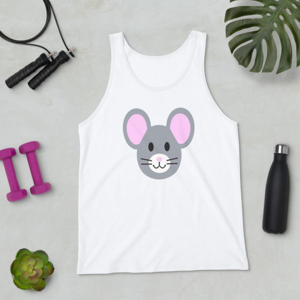 Roostah The 2 Pink Rat Unisex Tank Top (White)